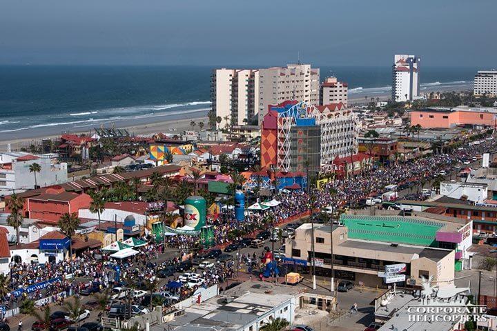 Rosarito to Ensenada bicycle race aerial coverage