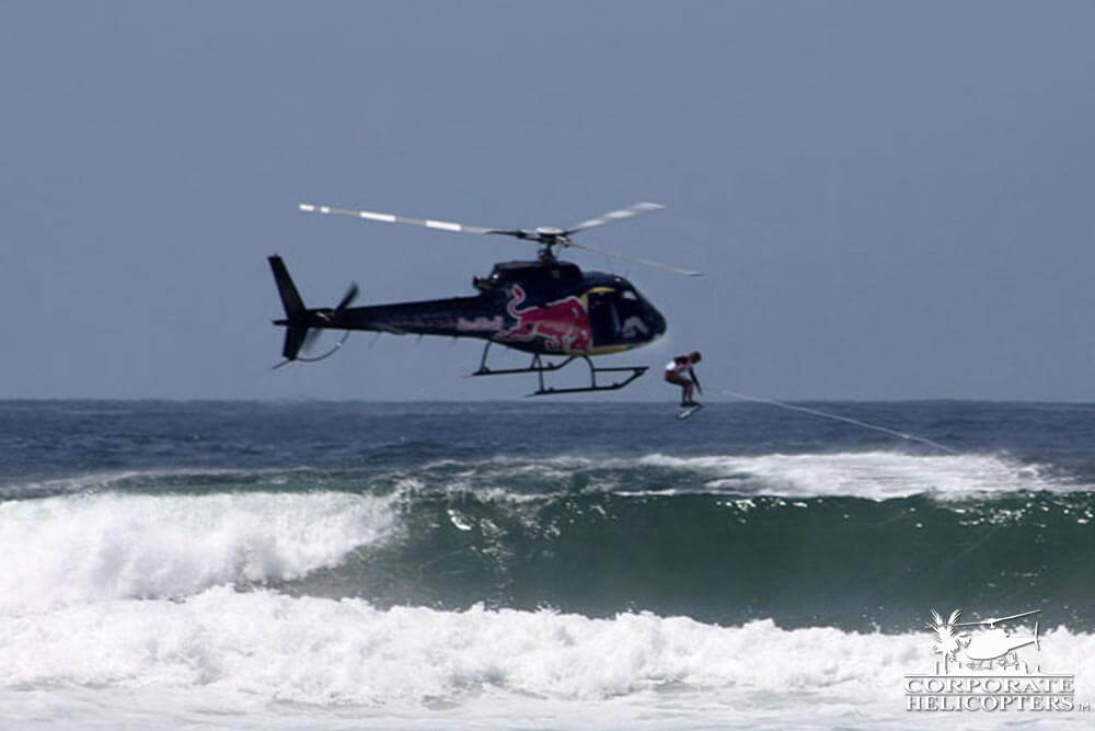 Wakeboard surf helicopter