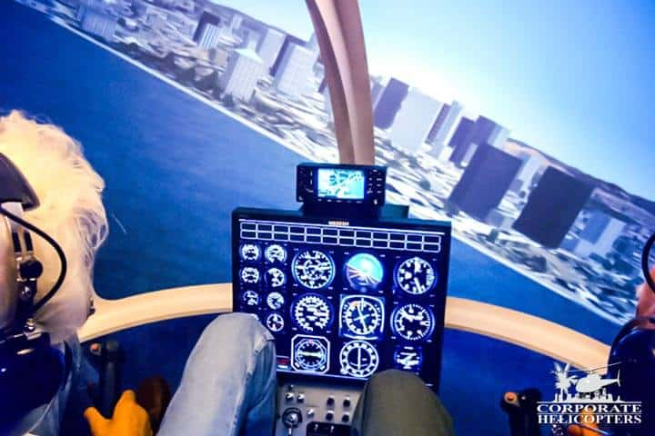 Our flight simulator makes helicopter flight training safer and more affordable.