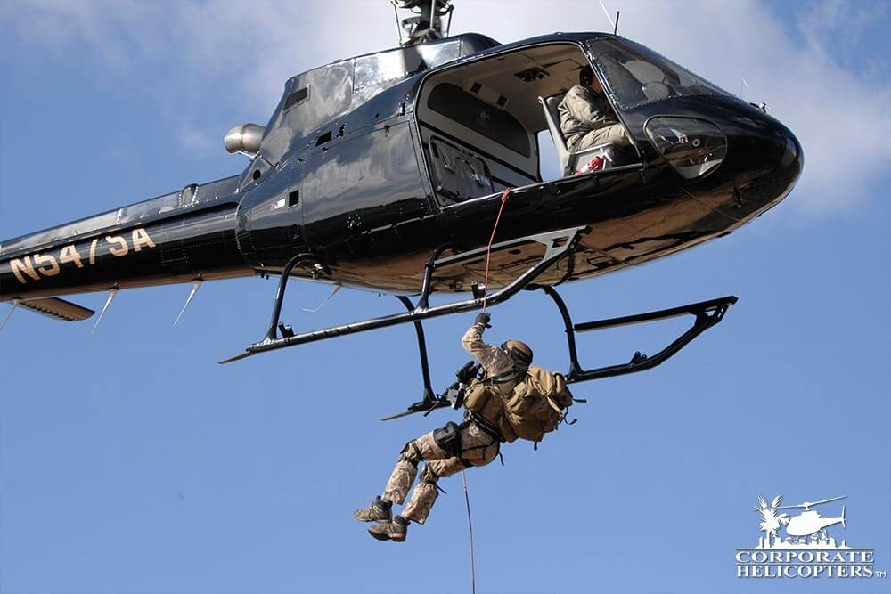 Helicopter repelling