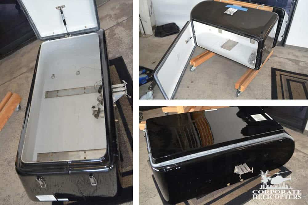 Baggage pods for Robinson R44 helicopter