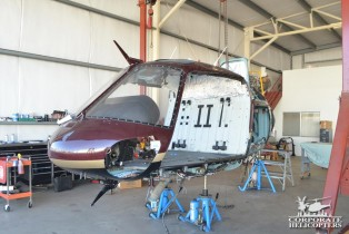 In-Progress of an AS350B2 144 Month Inspection.