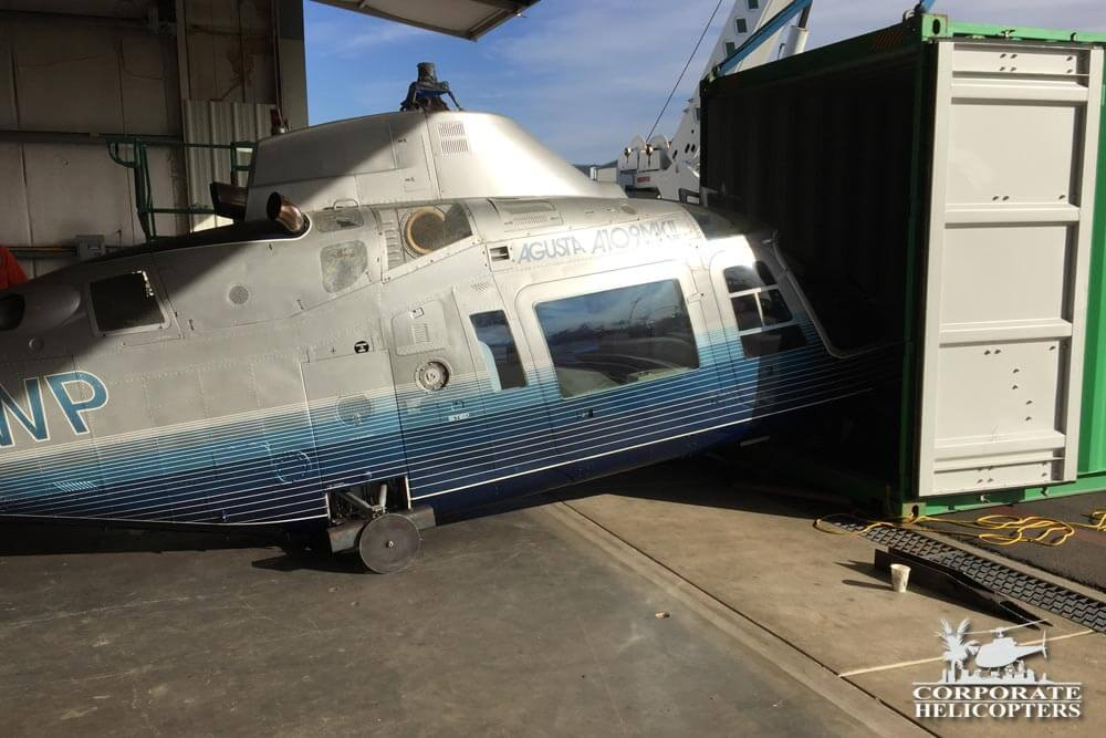 Helicopter Shipment out of country