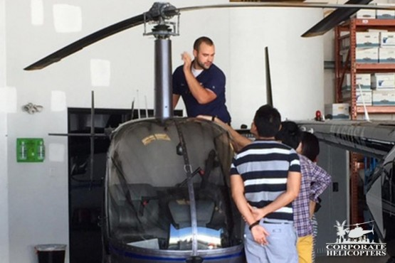 International Students 1st week at Corporate Helicopters