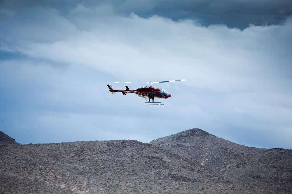 Corporate Helicopters provided aerial support for the Mint 400 off-road race. Image credit: Attain Media