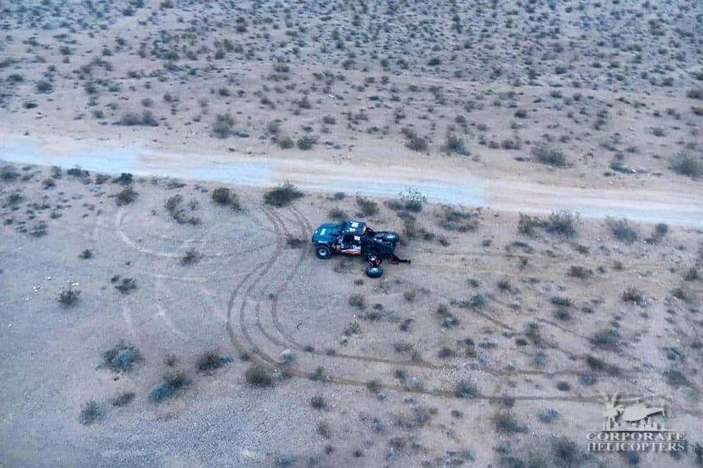 Corporate Helicopters provided aerial support for the Mint 400 off-road race.
