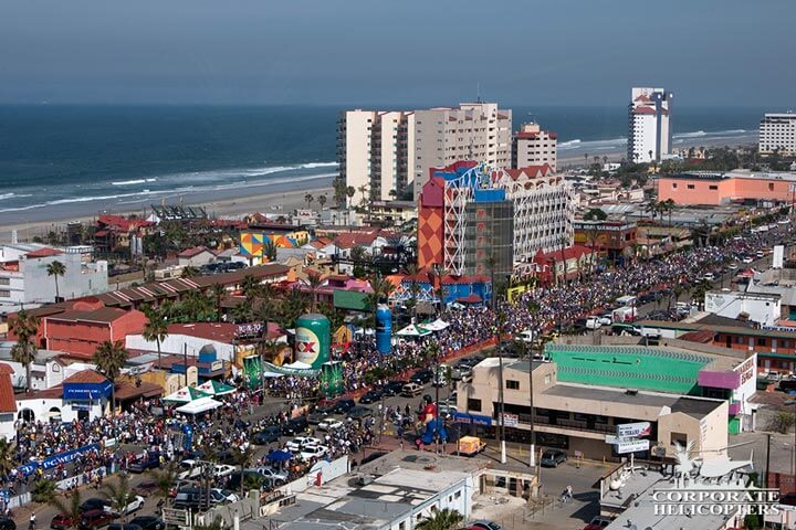 Rosarito to Ensenada bicycle race aerial coverage