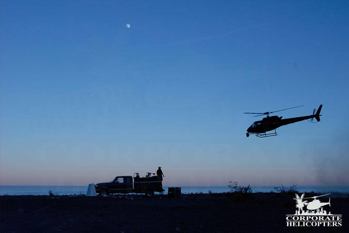 IMAX filming by helicopter in Mexico