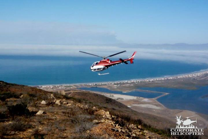 Aerial survey by helicopter