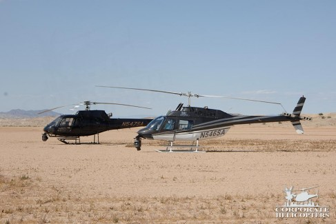 Helicopters in the desert