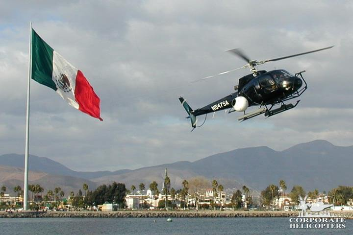 Helicopter filming in Mexico