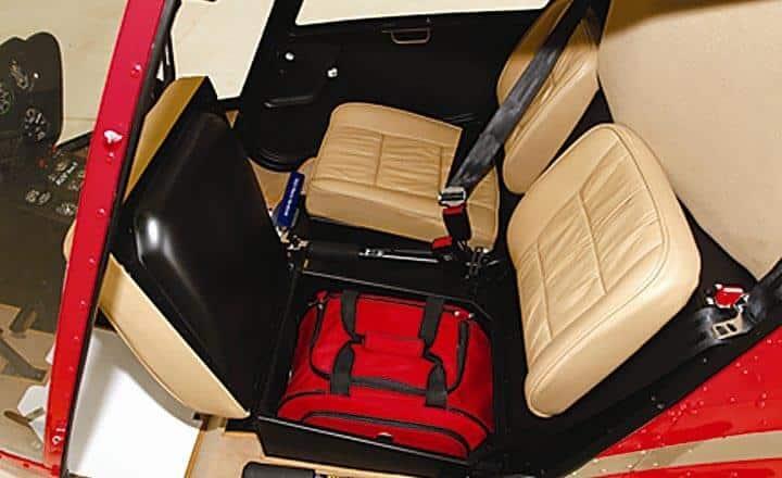 R22 Beta helicopter under seat storage