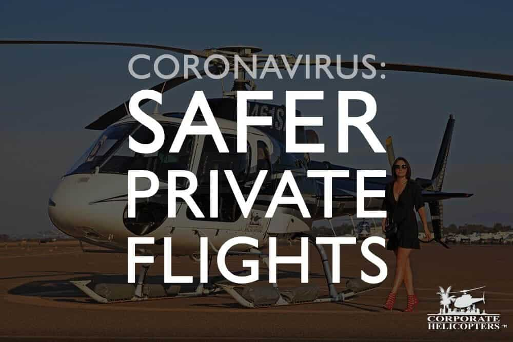 If you need absolutely must travel from San Diego by air during the Coronavirus COVID-19 pandemic, Corporate Helicopters is one of your best options. Operating out of a small airport with no crowds, you get a fully-private helicopter charter flight to multiple destinations.