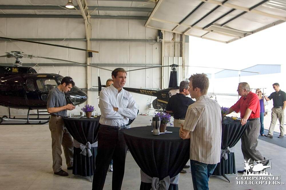 Event space in helicopter hangar