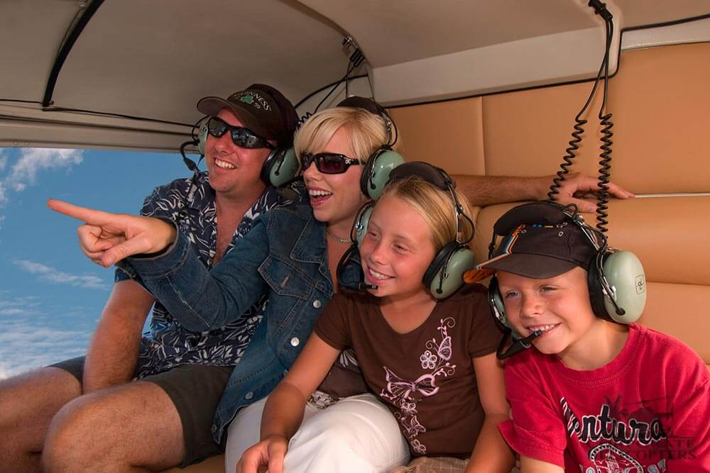 Helicopter tours of Corporate Helicopters San Diego are a great family experience.