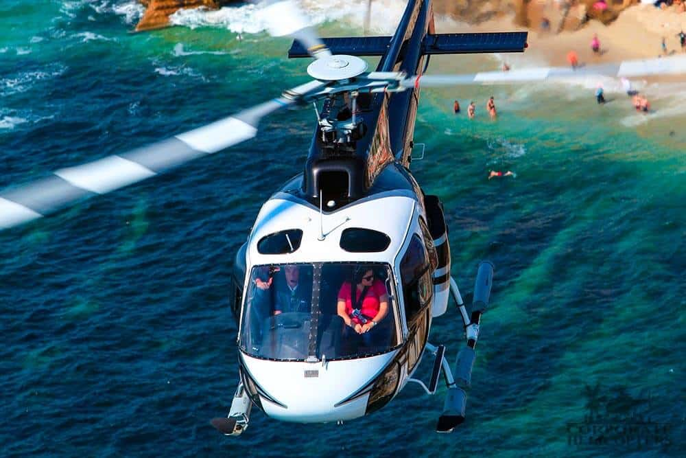 A helicopter tour of San Diego and flight to Thornton Winery in Temecula from Corporate Helicopters of San Diego.
