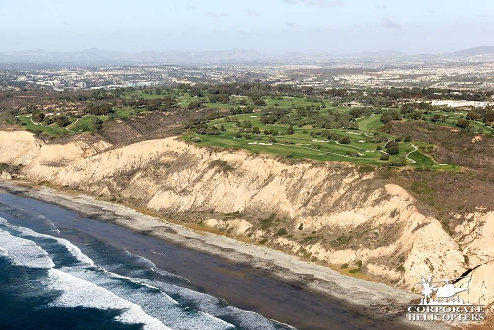 Torrey Pines, Del Mar. Helicopter tour from Corporate Helicopters of San Diego.
