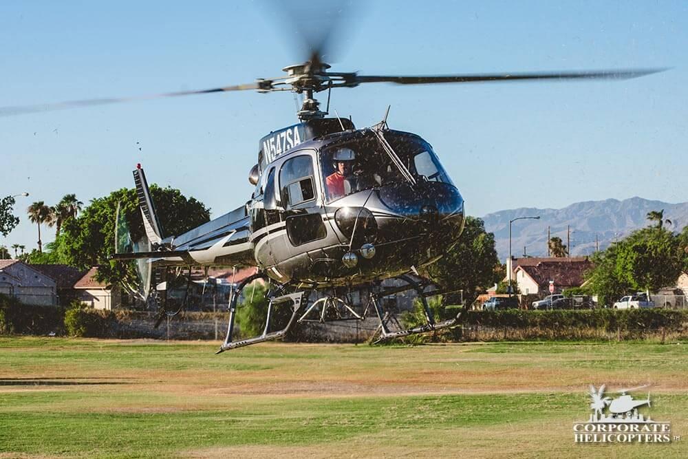 HVAC Long Line Aerial Crane service in Indio
