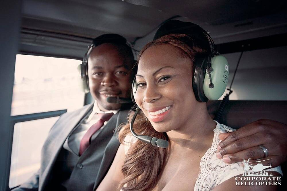 Helicopter marriage proposal and wedding