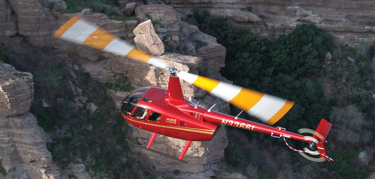 R66 flying